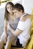 λυπημένος έφηβος ζευγών Στοκ φωτογραφίες με δικαίωμα ελεύθερης χρήσης