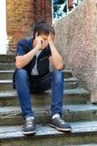 Λυπημένος έφηβος υπαίθριος Στοκ Εικόνα