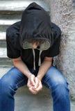 Λυπημένος έφηβος υπαίθριος Στοκ Φωτογραφίες