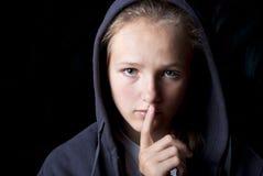 λυπημένος έφηβος Στοκ Εικόνες