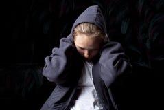 λυπημένος έφηβος στοκ φωτογραφίες με δικαίωμα ελεύθερης χρήσης