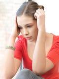 λυπημένος εφηβικός κοριτσιών Στοκ Εικόνες
