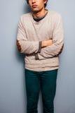 Λυπημένος και κρύος νεαρός άνδρας Στοκ Φωτογραφία