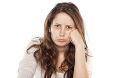 Λυπημένος και χωρίς makeup Στοκ φωτογραφία με δικαίωμα ελεύθερης χρήσης