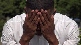 Λυπημένος καταθλιπτικός μαύρος απόθεμα βίντεο