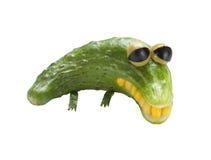 Λυπημένος κροκόδειλος φιαγμένος από λαχανικά Στοκ φωτογραφία με δικαίωμα ελεύθερης χρήσης