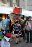 Λυπημένος κλόουν στην οδό Arbat στη Μόσχα Στοκ εικόνα με δικαίωμα ελεύθερης χρήσης
