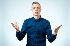 Λυπημένος νεαρός άνδρας που απομονώνεται Στοκ φωτογραφία με δικαίωμα ελεύθερης χρήσης