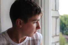 Λυπημένος νεαρός άνδρας Στοκ Φωτογραφίες