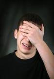Λυπημένος νεαρός άνδρας στοκ εικόνες