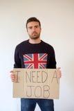 Λυπημένο αγγλικό άτομο Στοκ εικόνα με δικαίωμα ελεύθερης χρήσης