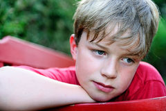 Λυπημένο αγόρι Στοκ Φωτογραφία