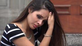 Λυπημένο θηλυκό απόθεμα βίντεο