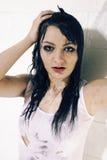 Λυπημένο κορίτσι στο λουτρό Στοκ Φωτογραφίες