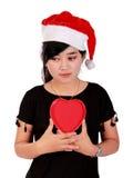 Λυπημένο κορίτσι Χριστουγέννων στοκ φωτογραφία με δικαίωμα ελεύθερης χρήσης