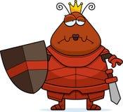 Λυπημένο μυρμήγκι κινούμενων σχεδίων βασίλισσα Armor ελεύθερη απεικόνιση δικαιώματος