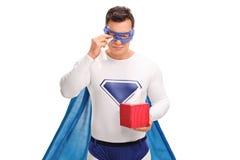 Λυπημένο να φωνάξει superhero Στοκ Φωτογραφίες