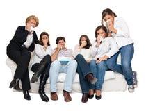 Λυπημένο πρόγραμμα TV Στοκ φωτογραφία με δικαίωμα ελεύθερης χρήσης
