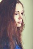 Λυπημένο πρόσωπο γυναικών Στοκ φωτογραφίες με δικαίωμα ελεύθερης χρήσης