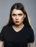Λυπημένο πρόσωπο κοριτσιών Στοκ Φωτογραφία