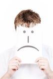 λυπημένο χαμόγελο ατόμων Στοκ εικόνα με δικαίωμα ελεύθερης χρήσης