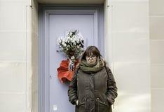 Λυπημένο pantheon κοριτσιών Στοκ Εικόνες
