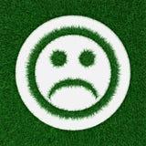 Λυπημένο smiley από τη χλόη Στοκ φωτογραφία με δικαίωμα ελεύθερης χρήσης