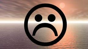 λυπημένο smiley Στοκ εικόνες με δικαίωμα ελεύθερης χρήσης