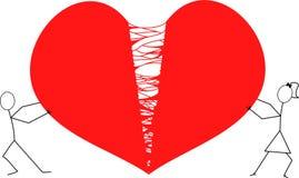 Λυσσασμένο αρσενικό ελάφι αριθμών ραβδιών ανδρών και γυναικών χώρια/κόκκινο σπασμένο αρσενικό ελάφι Στοκ εικόνες με δικαίωμα ελεύθερης χρήσης