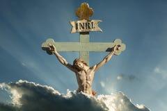 Λυτρωτής του Ιησούς Χριστού INRI των Χριστιανών Στοκ φωτογραφία με δικαίωμα ελεύθερης χρήσης
