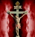 Λυτρωτής του Ιησούς Χριστού INRI Στοκ Εικόνες
