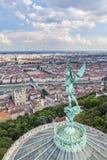 Λυών από την κορυφή της Notre Dame de Fourviere Στοκ εικόνες με δικαίωμα ελεύθερης χρήσης