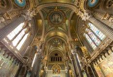Λυών Notre-Dame de Fourviere Church στοκ φωτογραφία με δικαίωμα ελεύθερης χρήσης