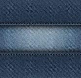 Λωρίδα τζιν με τις βελονιές ελεύθερη απεικόνιση δικαιώματος