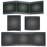 Λωρίδα foto κινηματογράφων με τη σκιά που απομονώνεται στο άσπρο υπόβαθρο απεικόνιση αποθεμάτων