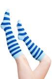 λωρίδες καλτσών ποδιών Στοκ Φωτογραφίες
