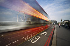 Λωρίδα λεωφορείου του Λονδίνου Στοκ εικόνες με δικαίωμα ελεύθερης χρήσης