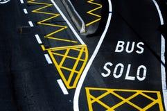 Λωρίδα λεωφορείου Στοκ Εικόνα