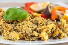 Λωρίδα και μύδια γατόψαρων στη σάλτσα πιπεροριζών - ινδική κουζίνα Στοκ Εικόνα