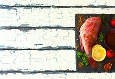 Λωρίδα κόκκινων grouper και των καρυκευμάτων Στοκ εικόνα με δικαίωμα ελεύθερης χρήσης