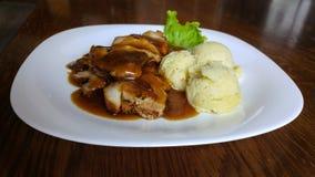Λωρίδα χοιρινού κρέατος τροφίμων Στοκ Εικόνες