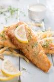 Λωρίδα ψαριών με τα τηγανητά Στοκ εικόνα με δικαίωμα ελεύθερης χρήσης