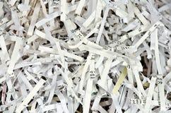Λωρίδες των τεμαχισμένων εγγράφων Στοκ εικόνα με δικαίωμα ελεύθερης χρήσης