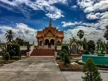 Λόγοι εκείνων των ναών Wat Phoun, Vientiane Λάος Σκάλα με τις γλυπτικές Naga στοκ φωτογραφία με δικαίωμα ελεύθερης χρήσης