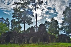 Λόγοι ναών της Καμπότζης Στοκ Εικόνες