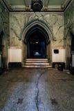Λόμπι με το ραγισμένο πράσινο χρώμα - εγκαταλειμμένη εκκλησία - Νέα Υόρκη Στοκ φωτογραφίες με δικαίωμα ελεύθερης χρήσης
