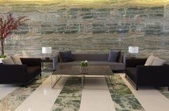 Λόμπι ξενοδοχείων πολυτελείας Στοκ εικόνα με δικαίωμα ελεύθερης χρήσης
