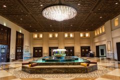 Λόμπι του ξενοδοχείου του Grand Hyatt σε Doha στοκ φωτογραφία με δικαίωμα ελεύθερης χρήσης