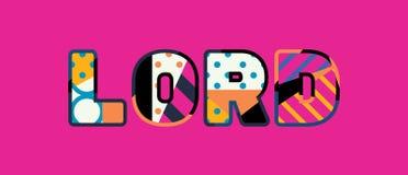 Λόρδος Concept Word Art Illustration απεικόνιση αποθεμάτων