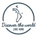 Λόρδος Howe Island Map Outline Στοκ Εικόνες